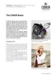 The COVER Brand - Coverwatches Switzerland Swiss Watch Watches