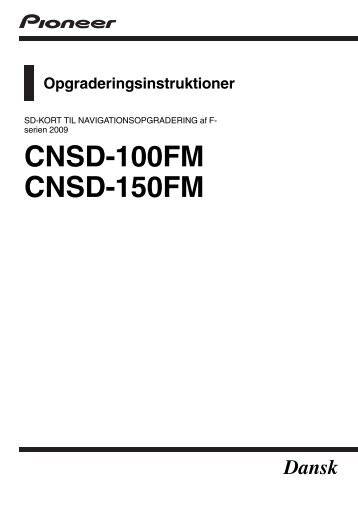 Pioneer CNSD-100FM - User manual - danois