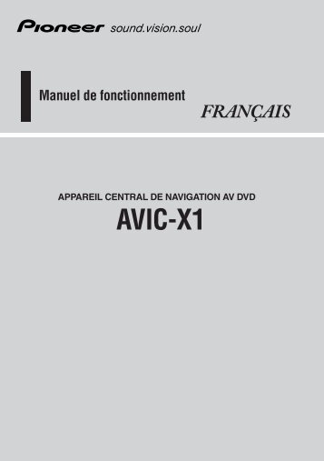 Pioneer AVIC-X1 - Software manual - français