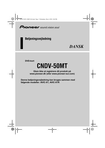 Pioneer CNDV-50MT - User manual - danois