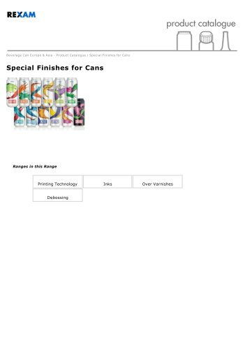 Special Finishes for Cans - Rexam Catalogue