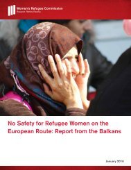 No Safety for Refugee Women on the European Route Report from the Balkans