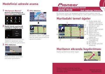 Pioneer AVIC-F220 - Quickstart manual - turc