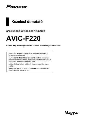 Pioneer AVIC-F220 - User manual - hongrois