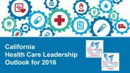 Care California Executive Outlook Health Care Leadership Outlook for 2016