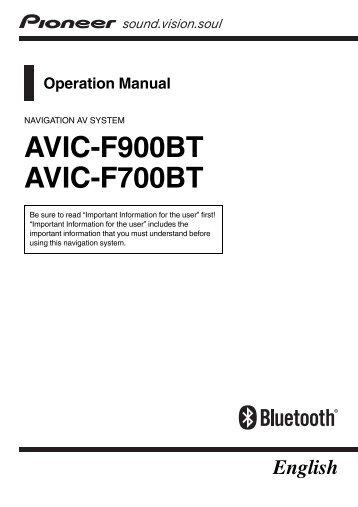 Pioneer Avic mrz088 manual