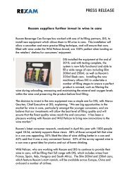 Press release: Rexam suppliers further invest in wine in cans
