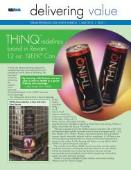 mor launches redesigned Rexam SLEEK® cans