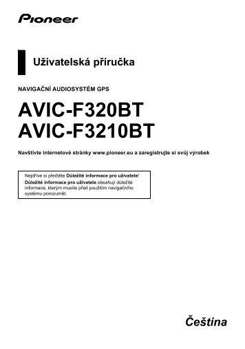 Pioneer AVIC-F320BT - User manual - tchèque