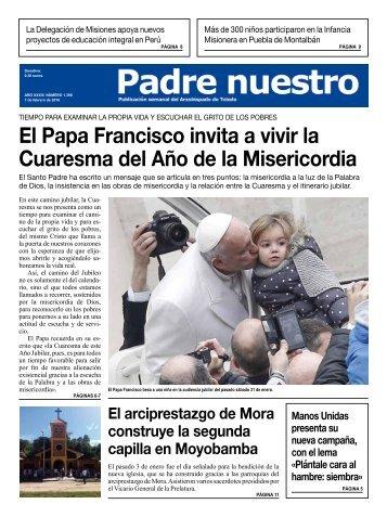 El Papa Francisco invita a vivir la Cuaresma del Año de la Misericordia