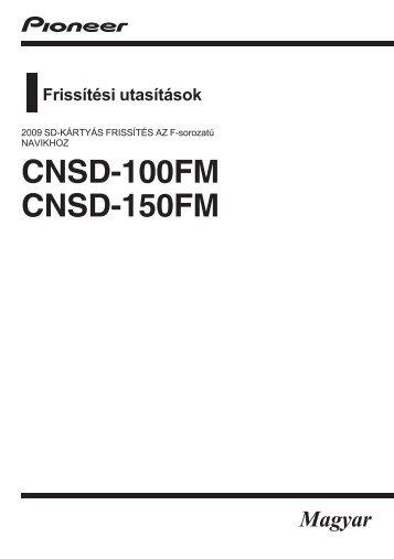 Pioneer CNSD-150FM - User manual - hongrois