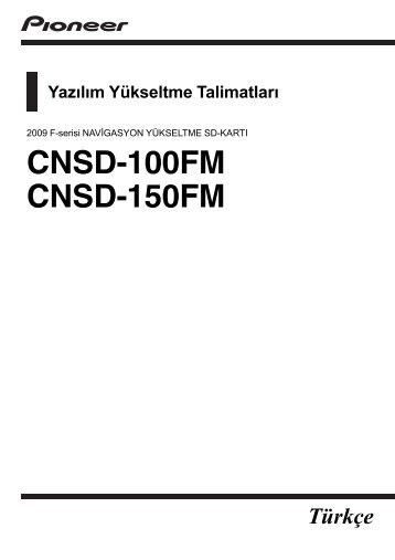 Pioneer CNSD-150FM - User manual - turc