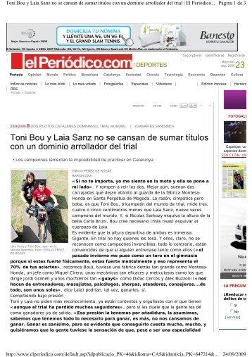 Toni Bou y Laia Sanz no se cansan de sumar títulos ... - amver - online