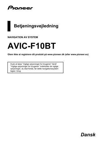 Pioneer AVIC-F10BT - User manual - danois