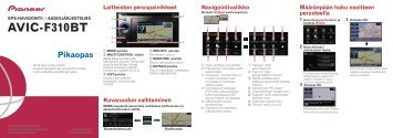 Pioneer AVIC-F310BT - Quickstart manual - finnois