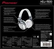 Pioneer HDJ-1500-W - User manual - anglais, français, portugais