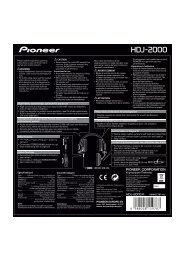 Pioneer HDJ-2000 - User manual - anglais, français, anglais (Australia)