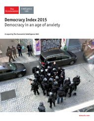 Democracy Index 2015 Democracy in an age of anxiety