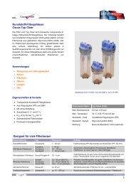 Kunststoff Serie Typ Clear (PDF-Ãœbersicht) - Infiltec GmbH