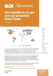 G20 subsidies to oil gas and coal production United States