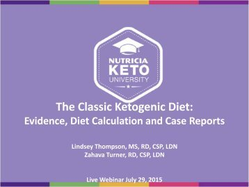 The Classic Ketogenic Diet