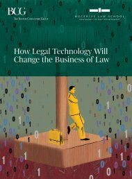 How Legal Technology Will Change the Business of Law