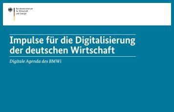 Impulse für die Digitalisierung der deutschen Wirtschaft
