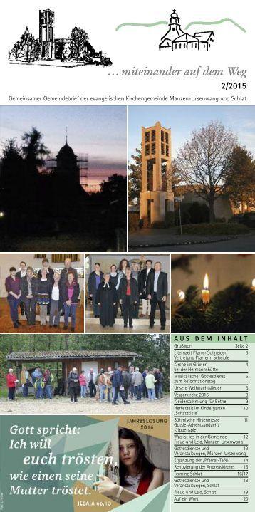 Gemeindebrief Dezember 2015 Schlat+Manzen