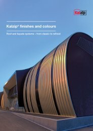 Kalzip® finishes and colours