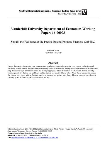 Fed working papers