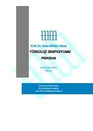 Sempozyum Programı - Çukurova Üniversitesi