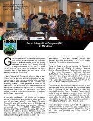Social Integration Program (SIP) in Mindoro - Philippine Army