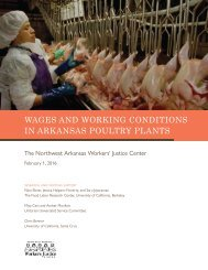 WAGES AND WORKING CONDITIONS IN ARKANSAS POULTRY PLANTS