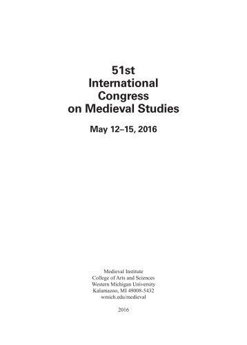 51st International Congress on Medieval Studies
