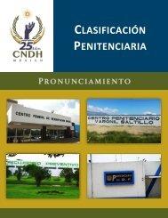 CLASIFICACIÓN PENITENCIARIA