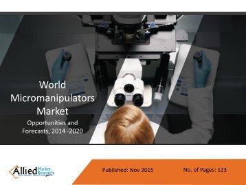 Micromanipulators Market Growth & Forecast 2014 - 2020