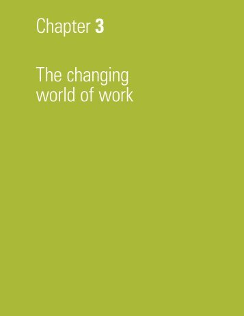Chapter 3 The changing world of work