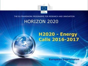 H2020 - Energy Calls 2016-2017