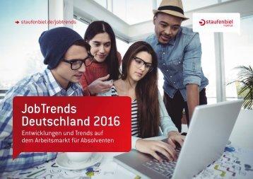 JobTrends Deutschland 2016