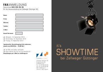 FAXANMELDUNG - Zellweger Güttinger AG