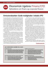 konomisk Ugebrev Finans/CFO