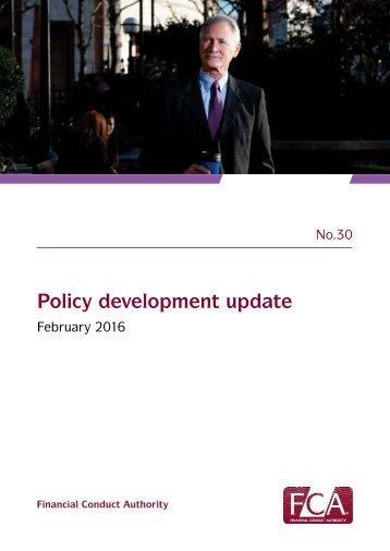 Policy development update
