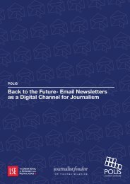 Back to the Future- Email Newsletters as a Digital Channel for Journalism