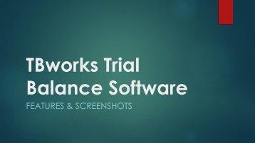 TBworks Trial Balance Software