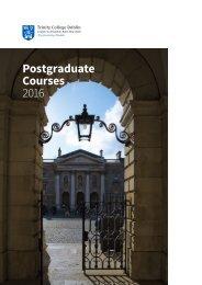 Postgraduate Courses 2016