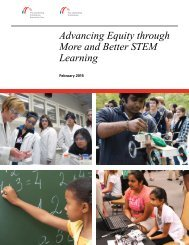 Advancing Equity through More and Better STEM Learning