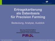 Ertragskartierung als Datenbasis für Precision Farming - Bedeutung ...