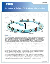 Key Features of Hughes HN/HX Broadband Satellite Routers