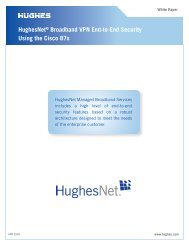 HughesNet® Broadband VPN End-to-End Security Using the  Cisco ...