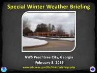 Special Winter Weather Briefing